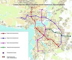 Схема казанского метро в будущем